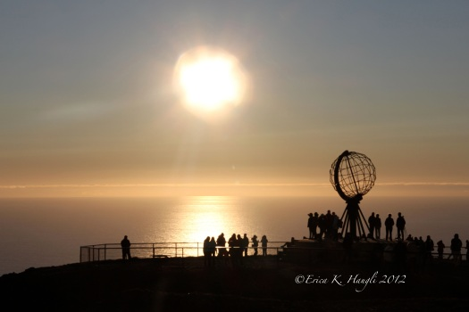 Midnight Sun, Nordkapp Plateau,  Norway
