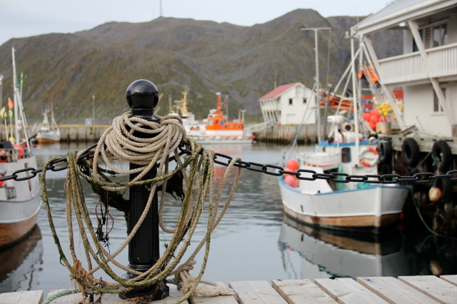 fishing community, honningsvåg, north cape norway