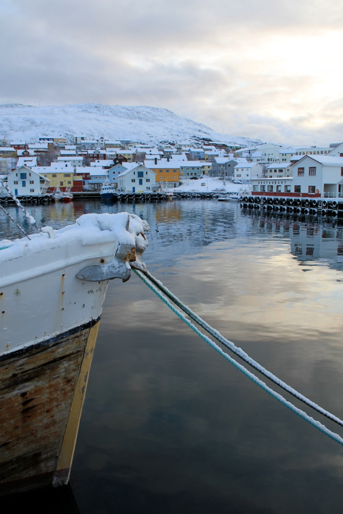 Honningsvåg Harbor, North Cape, Norway, winter