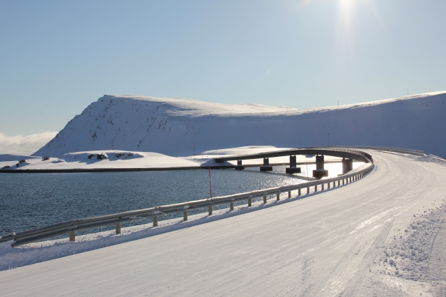 winter roads, snow, north cape, driving