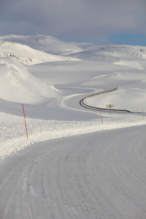 winter, roads, snow, norway, north cape