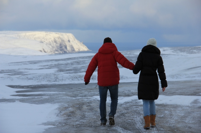 North cape, Love, couple, valentine's day