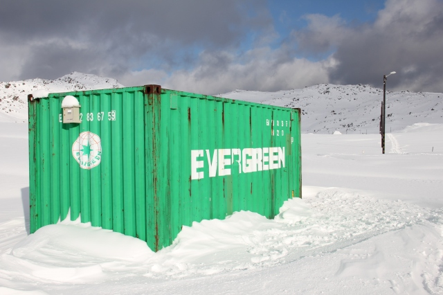 winter, container, north cape, nord