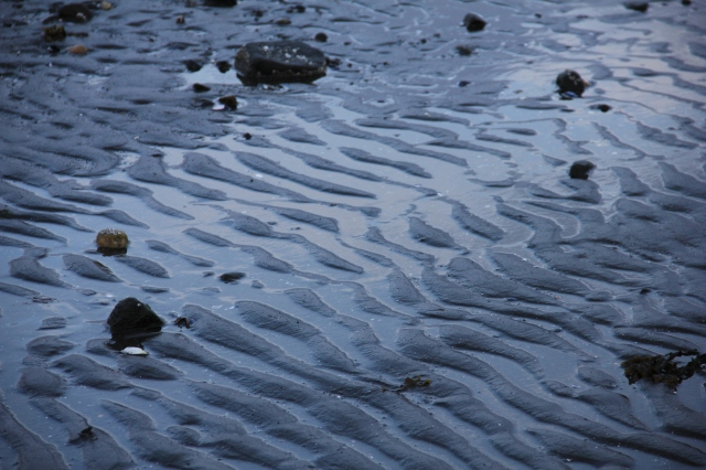 sand, patterns, reflections