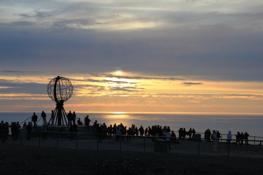 North Cape, Midnight sun, Nordkapp, Midnattsol